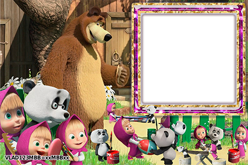 Рамки для фото с героями мультфильма: Маша и медведь ...